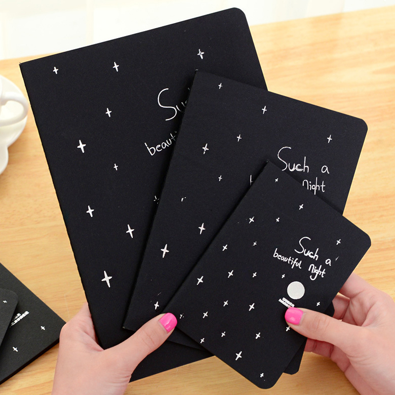 Notebook Diary Black Paper Notepad 16K 32K 56K Sketch Graffiti Notebook for Drawing Painting Office School Stationery Gifts(China (Mainland))
