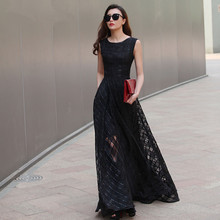 2016 New Design 7XL Long Organza Dress Maxi Spring Autumn Plaid Large Size Women Dress Vestidos De Festa Satin Dress Fashion(China (Mainland))