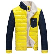 Men's winter clothes new collar color coat jacket youth SC coat large spot