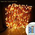 24m 480 Leds Copper Wire Silver Wire LED String Lights Starry Lights Warm White Christmas Fairy