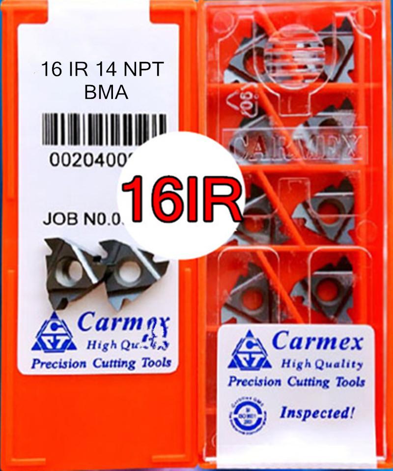 10pcs Carmex 16ER 14 NPT BMA High quality Threaded blade Carbide Inserts