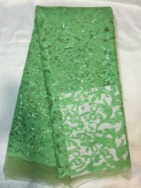 Free Shipping ! Nigeria green Cord Lace / Cupion Lace / Chemical Lace for Party Dress L3L3L(China (Mainland))