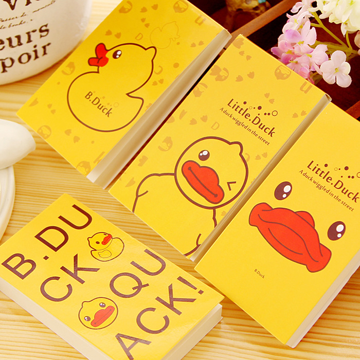 Cute Little Yellow Duck Stickers Paper Notes Sticky Notebook Memo Pad Memo Notepad School Office Escolar Papelaria Stationery(China (Mainland))