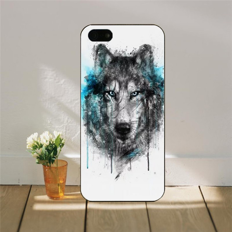 For iPhone5 5S phone cases For Cover Case for Apple iPhone 5G PC hard cover black ink animals