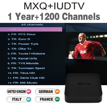 Android tv box with 1 year European IPTV Italy UK account Live TV preloaded tv box IUDTV iptv box free shipping