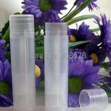 10 5G Transparent Lip Balm Tube,Cosmetic Lipstick Tube,Plastic Cosmetic Tube Packaging - MUSHINE SHINING store