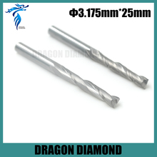 High Quality 3.175*25MM Carbide CNC End Mill Bits, Double Flute Milling Cutter, Woodworking Tools, Carving Engraving Tool sale