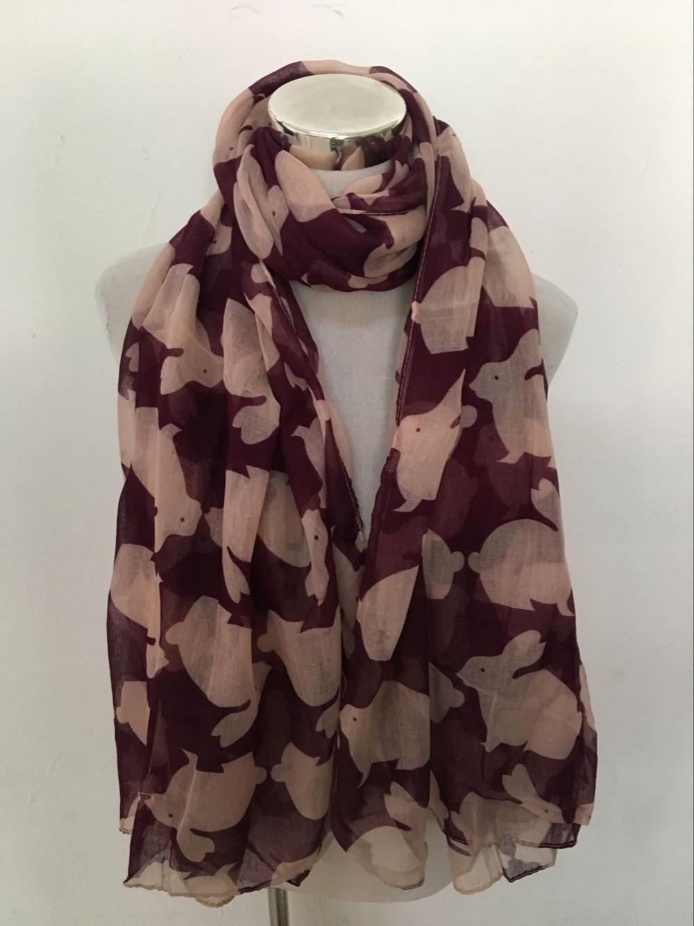 Бесплатная доставка! мода кролик печати животных Шарф|scarf fashion|scarf scarves|scarf animal - QQ20170215134814
