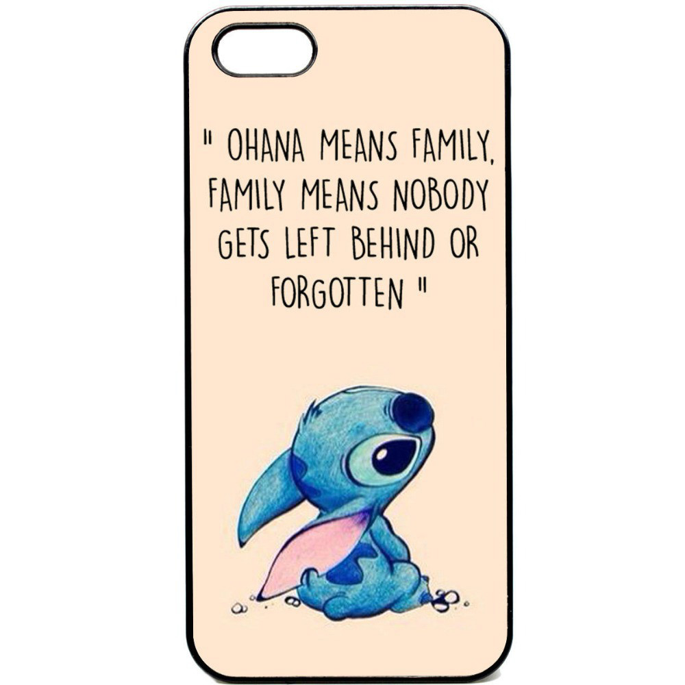 Ohana means family Lilo stich Case for iphone 4 4s 5 5s 5c 6 6plus ...