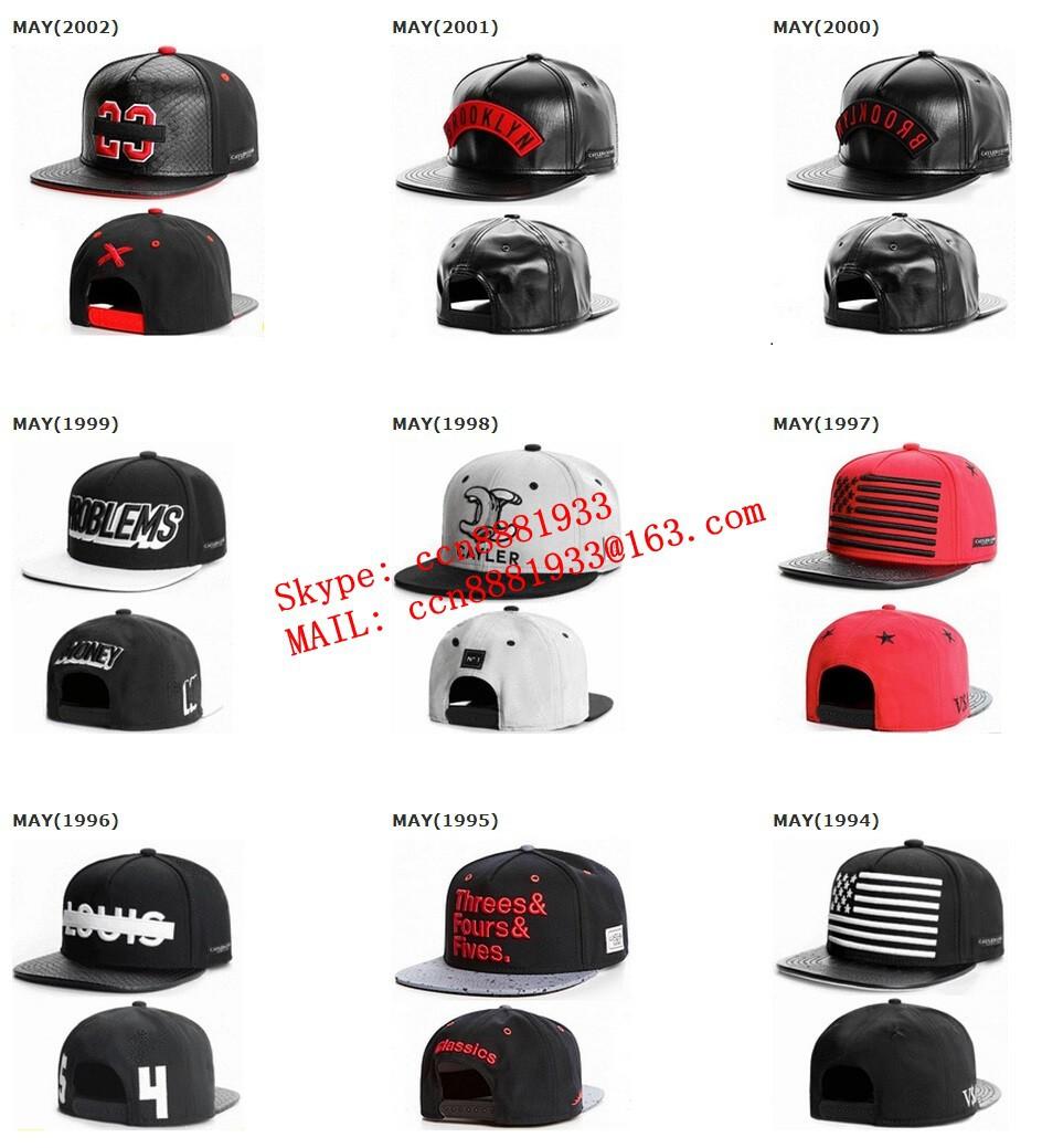NewBrand Cayler Sons black Leather Snapback hat Flower sport hip pop bone baseball snapback cap for women men gorros sun era hat(China (Mainland))