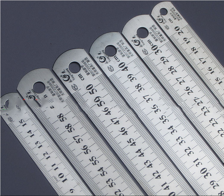 Steel ruler thicker Drafting Supplies hardware tools ruler double faced for office and school kawaii(China (Mainland))
