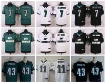 Stitiched,Philadelphia Eagles,Carson Wentz,Darren Sproles,Sam Bradford,customizable(China (Mainland))