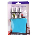 7 in1 Portable Cake Decorating Tool 1pc Length Silicone Icing Piping Cream Pastry Bag 6pcs Stainless