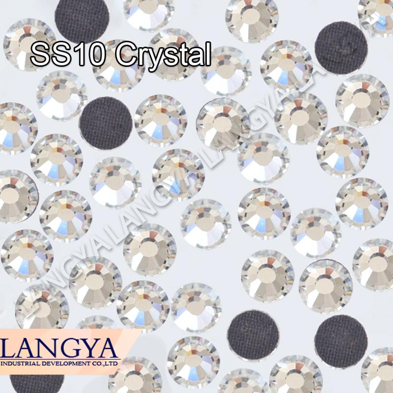 1440pcs SS10 Clear Crystal DMC HotFix FlatBack Strass Rhinestones Hot Fix Crystal Stones(Hong Kong)