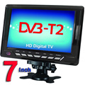Free Shipping Televisions 7inch TFT LCD Color DVB T2 Portable TV With Wide View Angle Support