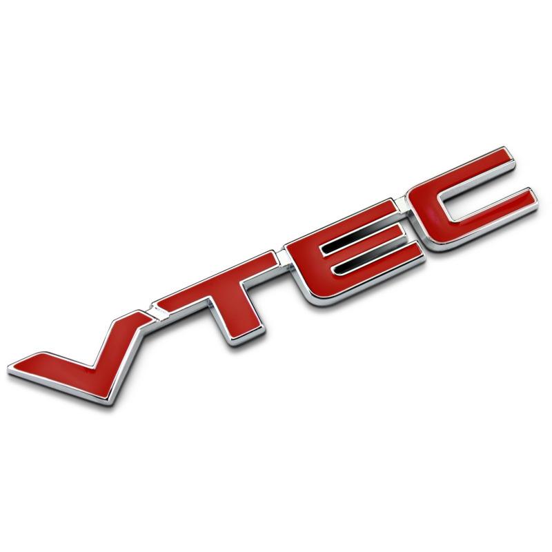 Red VTEC Full Metal Zinc Alloy Car Styling Refitting Emblem Fender/Tail Badge Sticker for Honda Civic Accord Odyssey Spirior etc(China (Mainland))