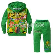 2015 Teenage Mutant Ninja Turtles Boy Hoodis Coat Top Trousers Kind's Clothing Cute(China (Mainland))