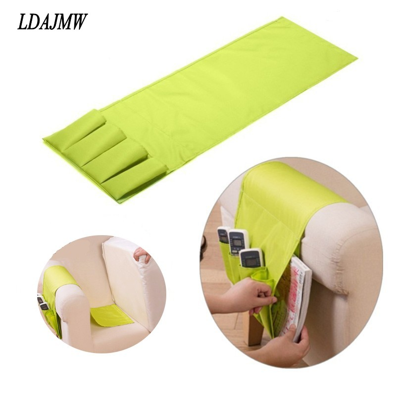 Novelty Household Sofa Couch TV Remote Control Holder Arm Rest Organizer Cell Phones Storage Bag 4 Pocket Sundries Storage Pouch(China (Mainland))