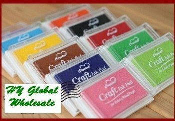 Freeshipping! 15 colors Craft Ink pad/Colorful Cartoon Ink pad/Ink stamp pad/Inkpad set for DIY funny work/Wholesale