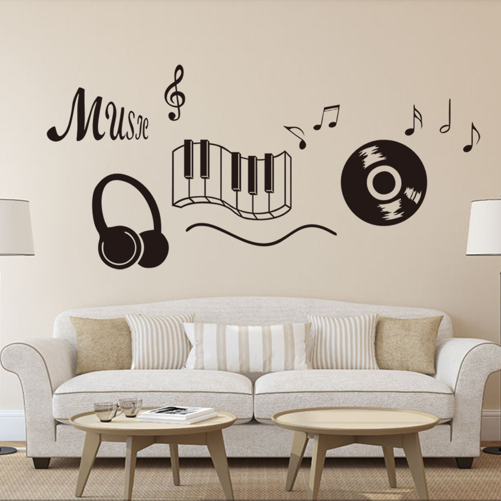 The keys Remove of the piano music English wall stickers living room sofa bedroom decorative wall stickers stickers bar KTV(China (Mainland))