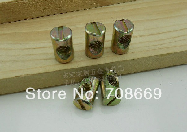 Гаджет  10pcs SHIPPING Barrel Bolts For Beds Cribs Chairs M8 8x20mm Cross Dowel Slotted Furniture Nut None Аппаратные средства