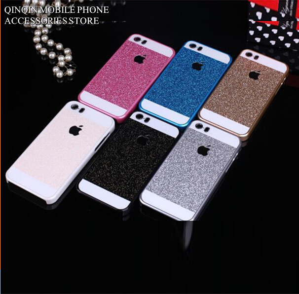 Colorful Bling Glitter Sparkle Powder Hard Plastic Luxury Protection Case Cover Skin For iPhone 5 5S 4 4S #K4(China (Mainland))