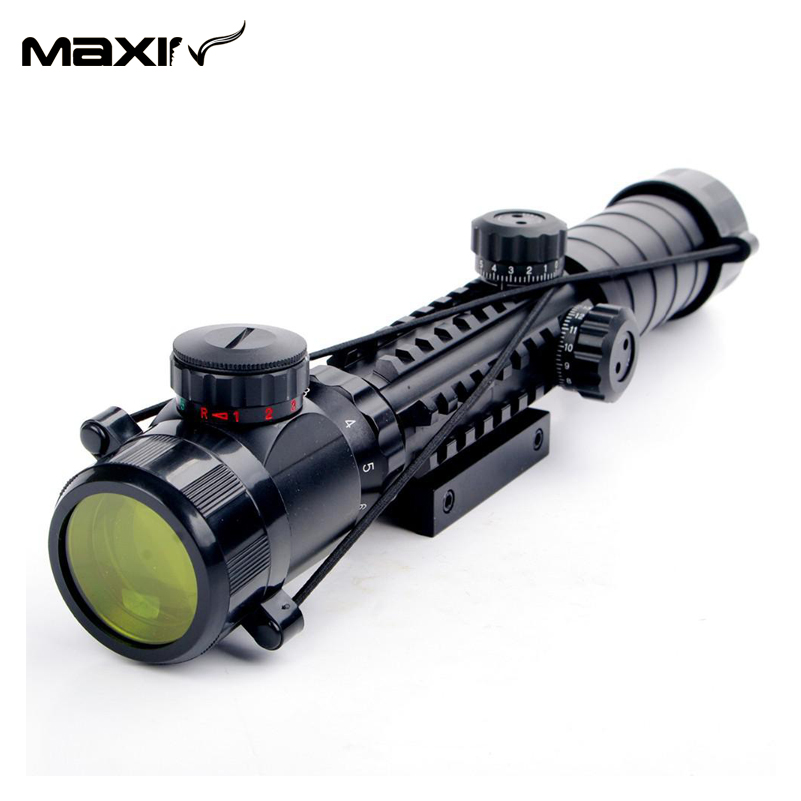 3-9X32EG Red&amp;Green Dot illuminated Reticle Crosshair Rifle Scope Laser Sight Telescopic With Adjustable Mount<br><br>Aliexpress