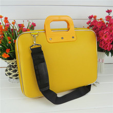 13 14 15 15.6 Inch Laptop bag PU leather Notebook sleeve Men and Women laptop case Business handbag Protective  Laptop Briefcase(China (Mainland))