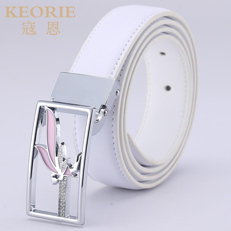 2016 New Fashion Woman Genuine Leather Belt Female Cowskin Belts Ladies Girls Smooth buckle Stylish Belt Buckles Luxury Belt(China (Mainland))