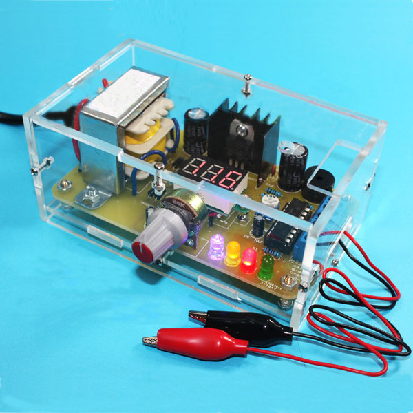 DIY LM317 Adjustable Voltage Power Supply Board Learning Kit With Case Integrated Circuits diy amplifier kit