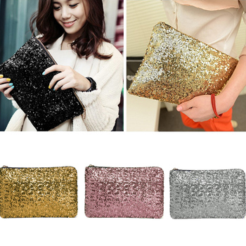 Fashion Women Clutch Bag Dazzling Sequins Glitter Sparkling Handbag Evening Party Bag