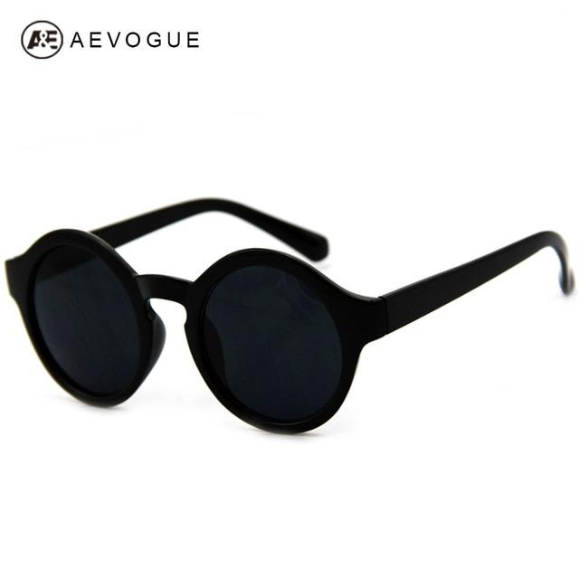 Розничные очки AEVOGUE новое урожай круглый пластиковые очки женщин мода очки gafas óculos де золь CE DT0065