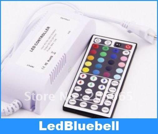 Transformer power supply LED drivers + controller + IR 44 keys remote control for RGB LED Strip(China (Mainland))