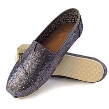 Brilliant Sequin Flat Shoes For Women 2016 New Fashion Canvas Flats Ladies Sweet Spring Autumn Casual Shoes Comfortably Loafers