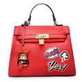 2016 New style Kylie bag lady handbag Korean design shoulder bag messenger bag Kuso Pendant Graffiti