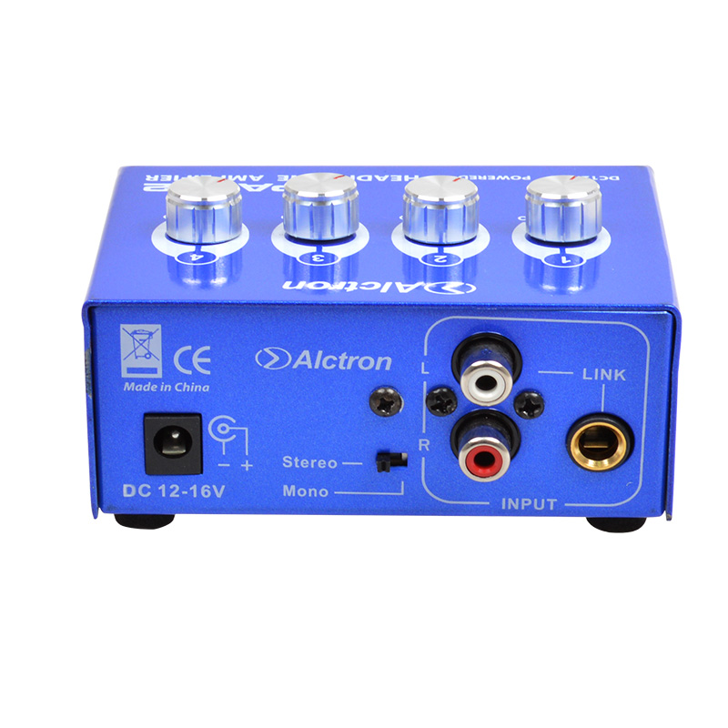Alctron HPA002 Portable Earphone Headphone Amplifier 6.35mm Stereo and RCA Jack high quality steel Big Power High Quality Sound
