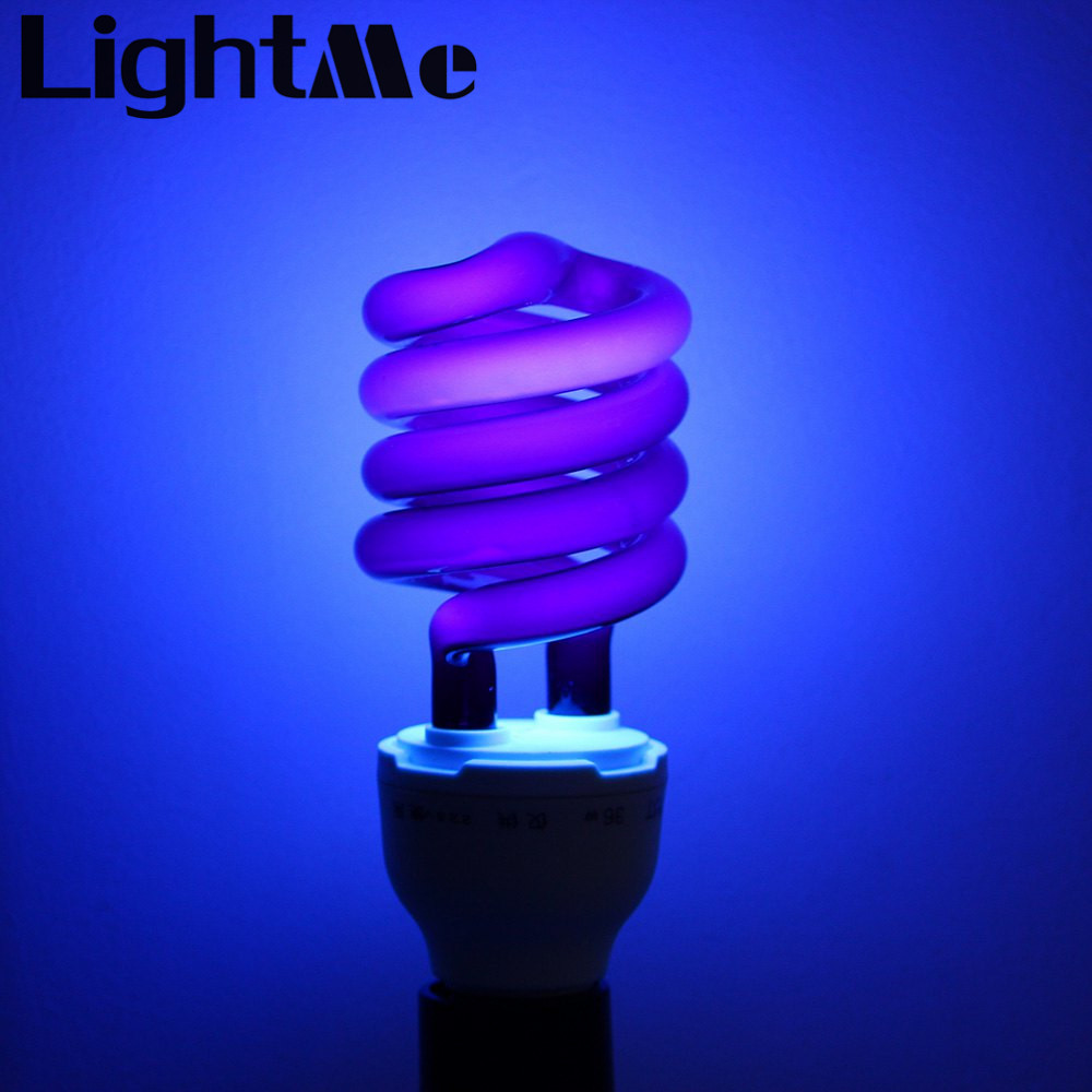 2016 New E27 36W Spiral Energy Saving Black Light Lamp CFL Bulb Moth-killing Light Counterfeit Detector with E27 Screw-socket(China (Mainland))