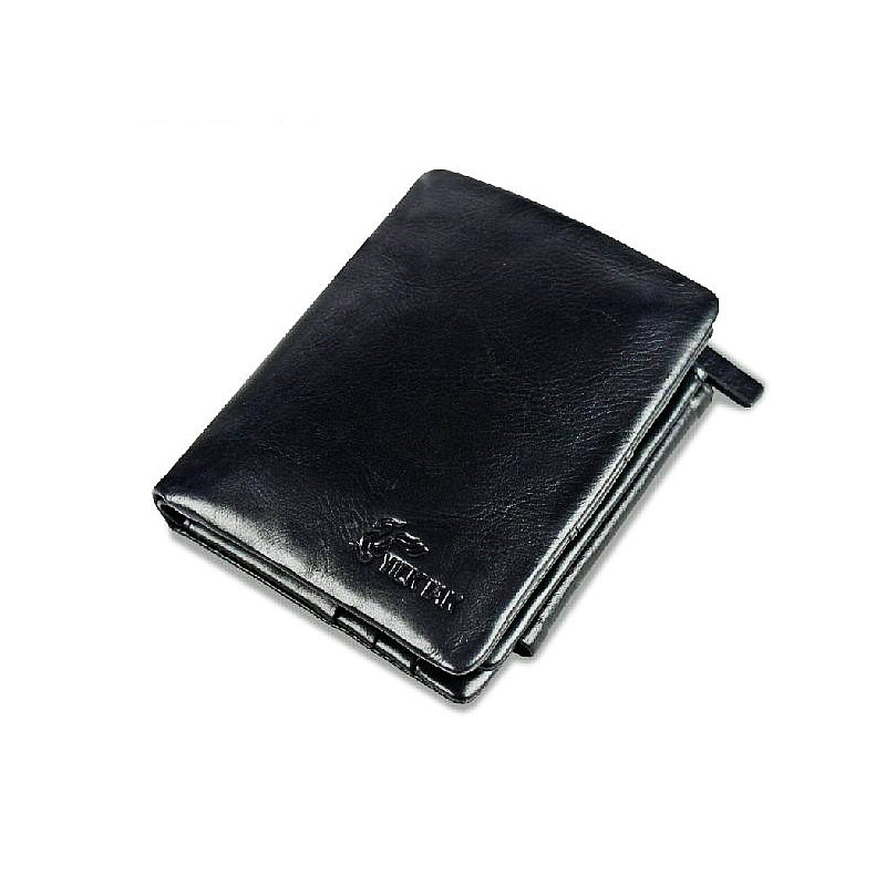 Fashion Hot Brand Man Wallet 100 Genuine Leather Wallets Cowhide Trifold Zipper Male Wallet Short Vertical