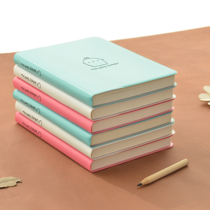 2016-2017 Cute Kawaii Notebook Cartoon Molang Rabbit Journal Diary Planner Notepad for Kids Gift Korean Stationery Three Covers(China (Mainland))