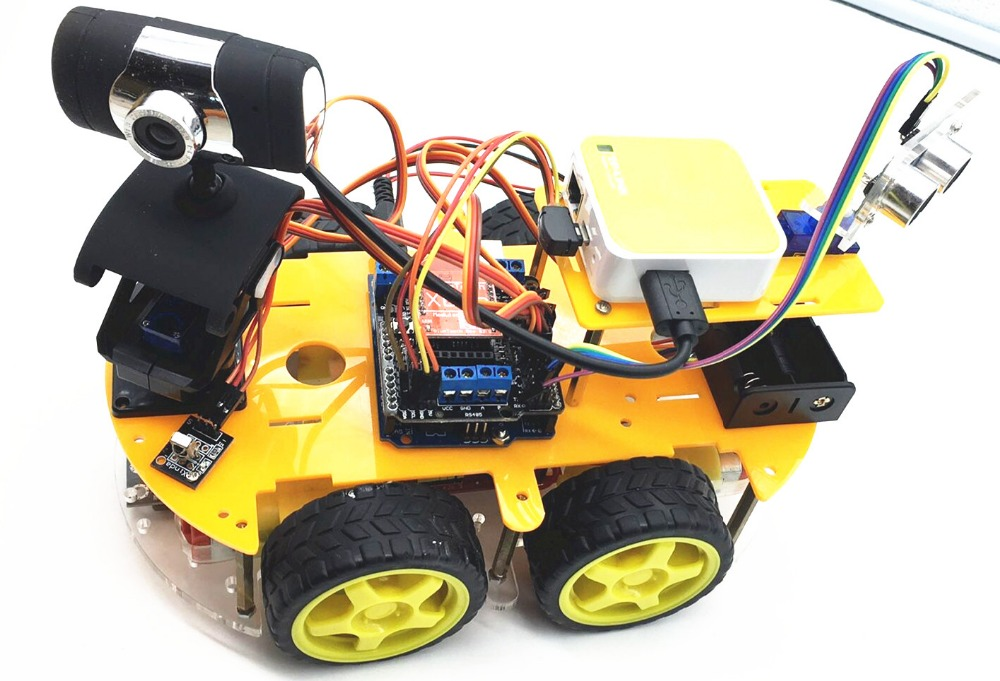 Students DIY smart car programmable robot arduino kit wifi wireless camera 2(China (Mainland))