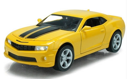 Super Cool 1:32 Chevrolet Camaro Sports Car Bumblebee Alloy Model Car Kids Toys Birthday Gift 2 Colors Scale Models(China (Mainland))