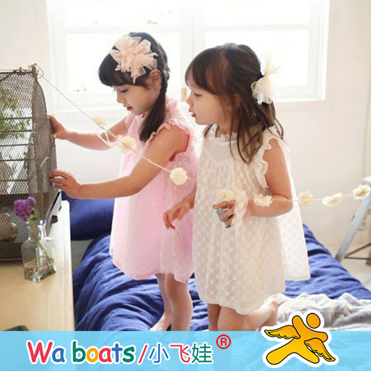 2015 new summer style girl lace wholesale children's dress manufacturers 1267(China (Mainland))