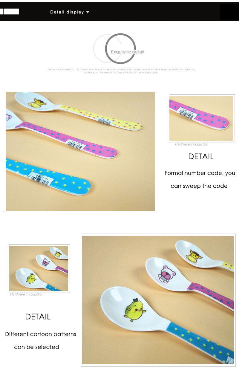 2Pcs/Lot Baby SpoonNew Arrival Lovely Cartoon Kids Baby Feeding Spoon New Safety Baby Spoon Health and Safety N016