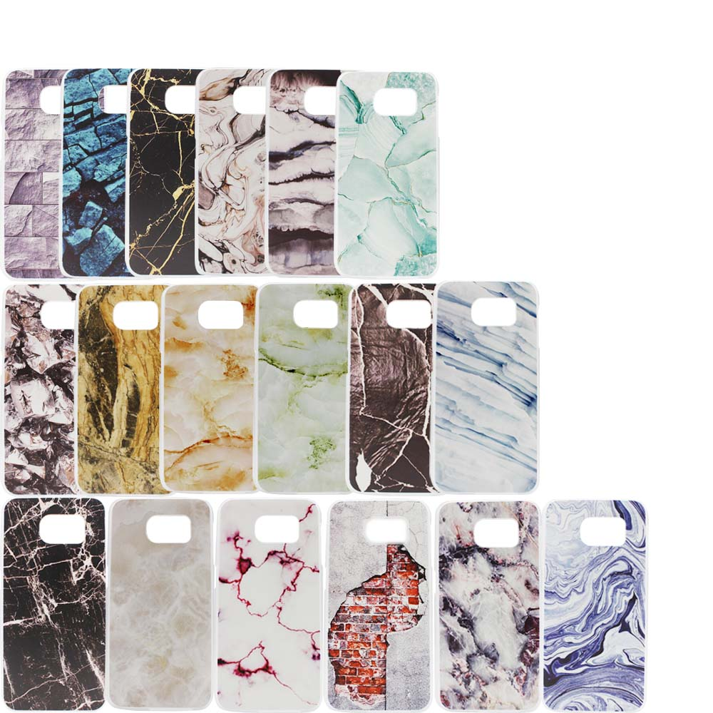 Stone Granite Marble Texture Pattern PC Case For Samsung Galaxy S6 edge Thin Back Cover Protective For Samsung Galaxy S6+Film(China (Mainland))