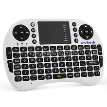 English or Russian mini keyboard RF500, Mini Wireless keyboard &Touchpad 2.4G Multi-Media Remote Control For PC/Andriod TV Box(China (Mainland))