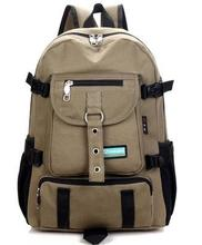 Men's backpack strap zipper backpack
