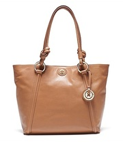 MIMCO FULL LEATHER MIM SUPERNATURAL TOTE RRP399 honey BAG gold buttom