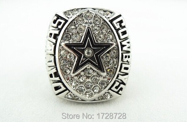 Sports jewelry replica 1992 Super bowl Dallas Cowboys American football championship ring as gift with box(China (Mainland))