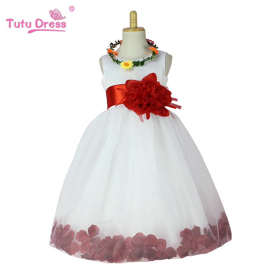 Hot Sell Flower Girl Dresses Weddings Elegant Gown 2-12 Age Designer Flower Girl Gowns For Kids(China (Mainland))