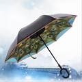 Unique Inverted Drip Free Vehicle Reflective Strip Safety Car Umbrella Sun And Rain Umbrellas Auto close